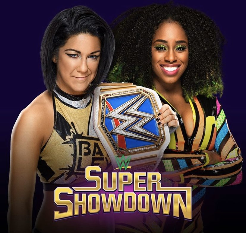 I'm excited for @NaomiWWE and @itsBayleyWWE, as they prepare for their match tonight in Riyadh, Saudi Arabia.This is the first women's championship match in Saudi Arabia and another epic moment for women around the world. Incredibly proud of you both💚🇸🇦