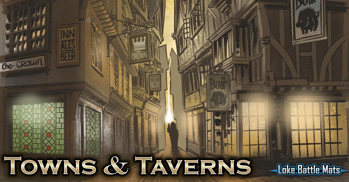 Towns & Taverns is live on Kickstarter now! https://t.co/LQm4Vzy1td 2 modular battle map books of fantasy urban maps which create an epic 2x2 foot play area. Lay Flat & Wipe Clean. #townsandtaverns #dnd #lokebattlemats #battlemapbook #rpg #ttrpg #kickstarter #dungeonsanddragons https://t.co/BeBBA60tkP