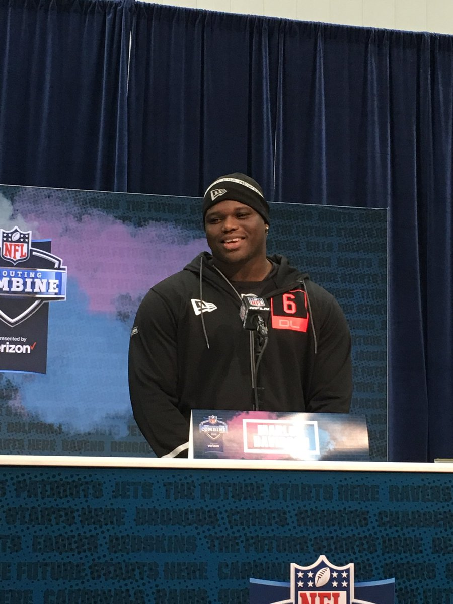 """.@AuburnFootball DL Marlon Davidson says he met with #Cowboys last night at the #NFLCombine.   """"I like everything about the Cowboys,"""" he said.<br>http://pic.twitter.com/n78IeobEms"""
