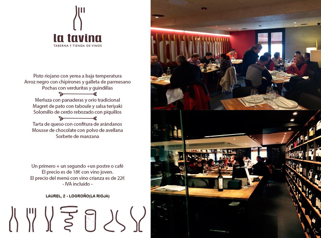 Con este menú imposible resistirse. Lee (saborea) atentamente ;-) nuestro #menuriojano #gastrolovers #callelaurel #restaurantelatavina