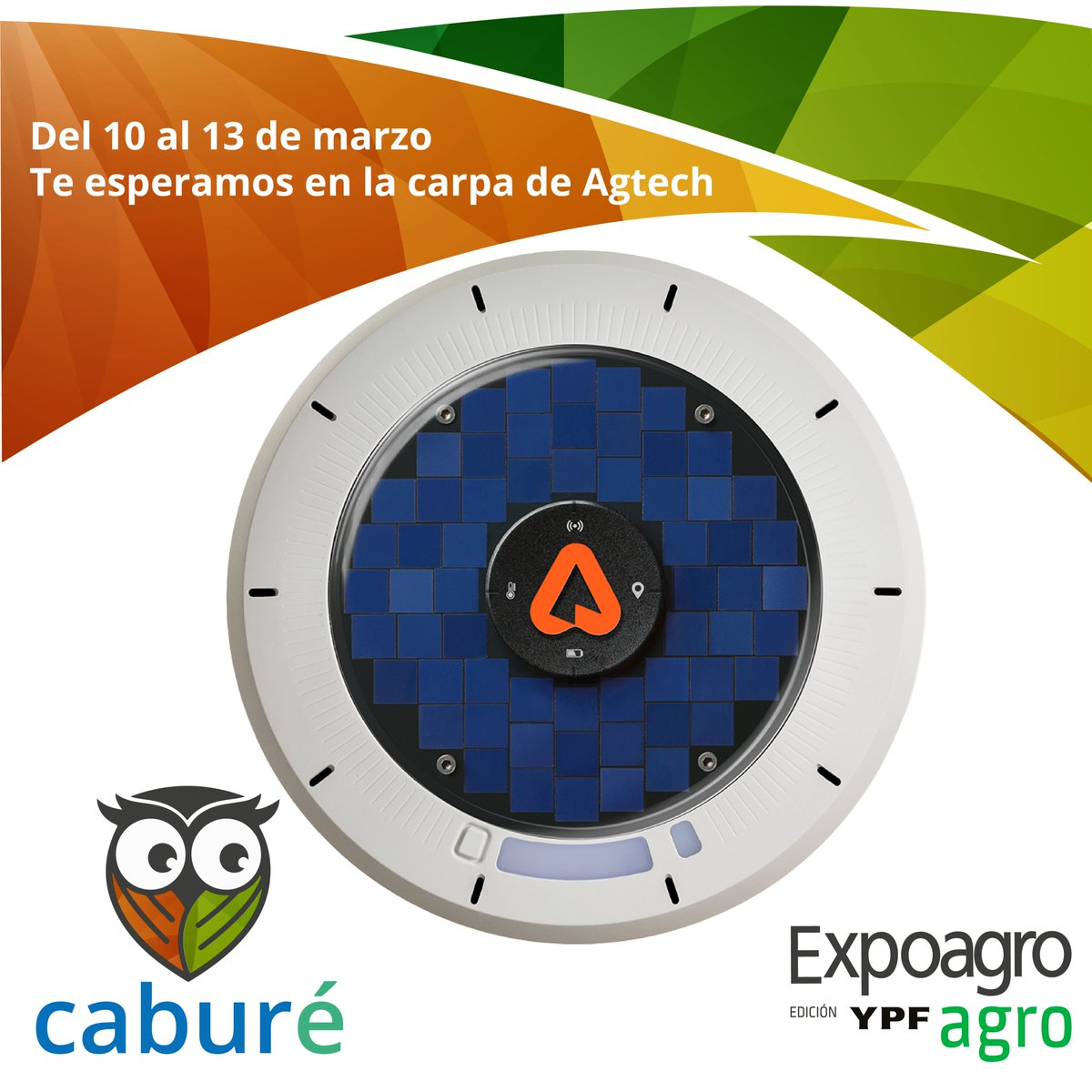 #NosVemosEnExpoAgro 10-13 Marzo con amigos @Caburearg! 🇦🇷 Ven a visitar la carpa #agtech en #ExpoAgro2020 para hablar con nuestros amigos Caburé sobre cómo Arable puede ayudar con la 'Decision Agriculture' en América del Sur