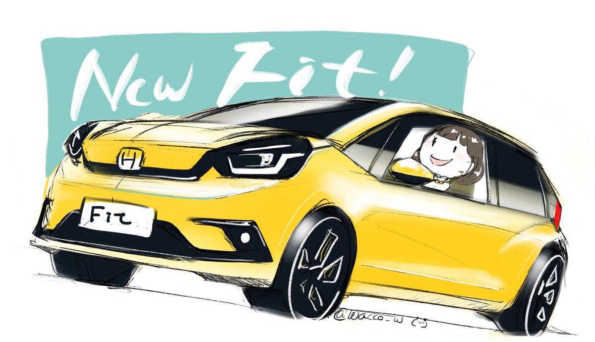 HONDA NEW FIT  #FIT #HONDA #illustration<br>http://pic.twitter.com/f2bjRoFgV1