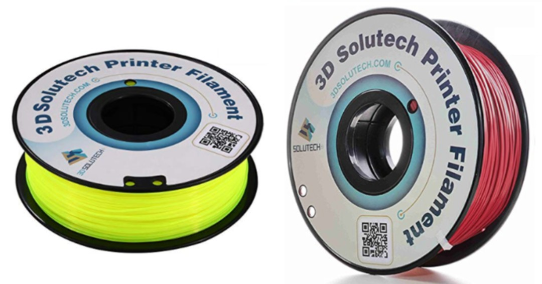 Currently a 15% off coupon available on two different 1kg spools of 1.75mm PLA from 3DSolutech, afflinks below.  #3dprinter #3dprinting  See Through Yellow ($14.44 w/ coupon):  Merlot Red ($16.14 w/ coupon):