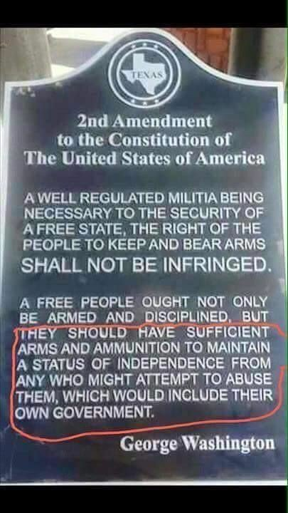 The only limits are on Federal, State, Local & other Municipality Governments... #WeThePeople are to retain an Effective Means to Remove & Replace a Tyrannical Government. & Self Preservation is a Human Birthright, not some gift or privilege from any branch or level of Government <br>http://pic.twitter.com/5D9E2179el