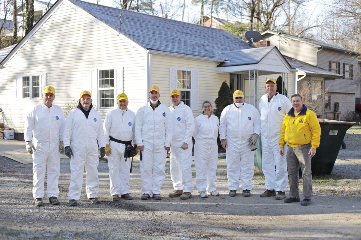 Disaster Relief volunteers suited up to serve residents in Richlands where many homes were flooded in early February. Teams removed wet drywall and flooring to avoid mold. We're thankful for the dedicated SBCV volunteers and churches who make this possible. #YouAreNotAlone <br>http://pic.twitter.com/WuWl8JTp4p