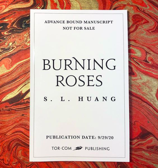 Bound manuscripts are here for @sl_huang's BURNING ROSES!🌹🔥🌹🔥🌹🔥Rosa (aka Red Riding Hood) and Hou Yi the Archer join forces to stop the deadly sunbirds and generally kick ass.https://publishing.tor.com/burningroses-author/9781250763990/…