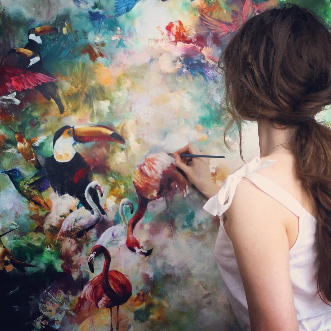 Always in my own world. (It's a nice place...)⠀ ⠀ #paintinginprogress #ontheeasel #onmyeasel #paintingoftheday #oilpainting #oilpainter #surrealism #realism #abstractart #contemporaryart #artfido #artiststudio #studioscenes #artinstruction #paintingtutorial #wip #artlifepic.twitter.com/De48nvBXx0