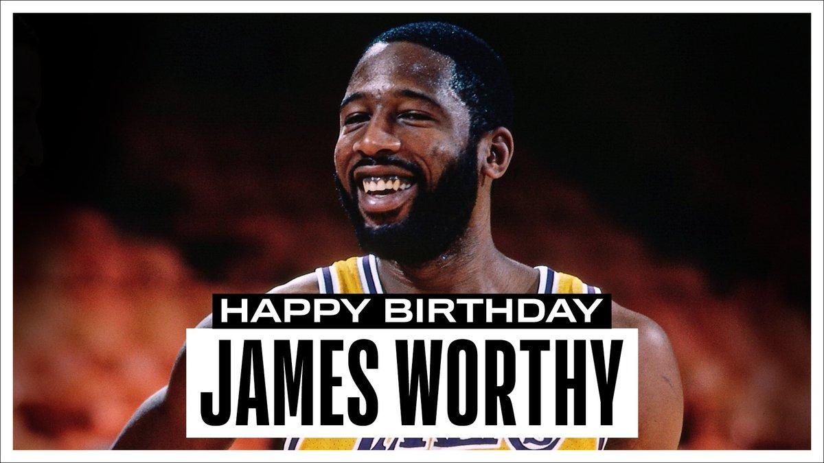 Join us in wishing a Happy 59th Birthday to 7x #NBAAllStar, 3x NBA Champion & '88 #NBAFinals MVP, James Worthy! #NBABDAY
