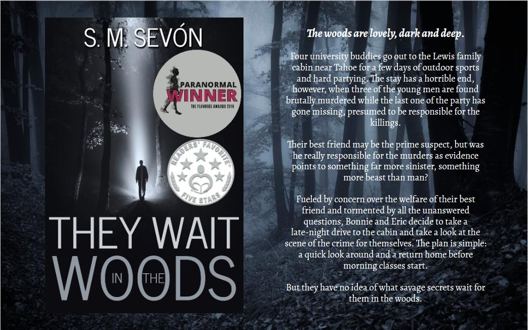 """When the things that go bump in the night are those closest to you."" If you're willing to give some paranormal suspense a try, then do check out #TheyWaitintheWoods and #WhatHumanRemains. Details, links and samples are available at http://smsevon.com , if you're interested.pic.twitter.com/MkhKuXq5TA"