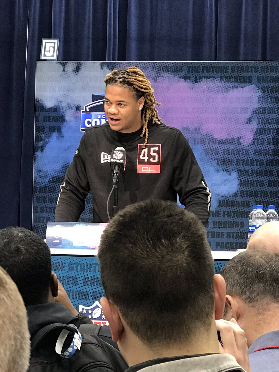 Chase Young: I definitely think I'm the best player in the draft.  Narrator: He was right. <br>http://pic.twitter.com/SQDl0G8Dxd
