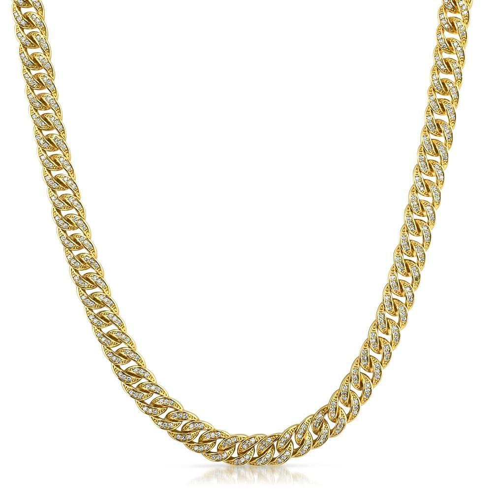 .925 Silver 8MM CZ Bling Bling Gold Cuban Links Chain! FREE SHIPPING (USA) OVER $75  #blingbling #hiphop #hiphop #style #money #cash #jewels #luxury #blingbling #bling #jewelry #newbling #newstyle #save #money #cheap #clearance #hip #Badbunny