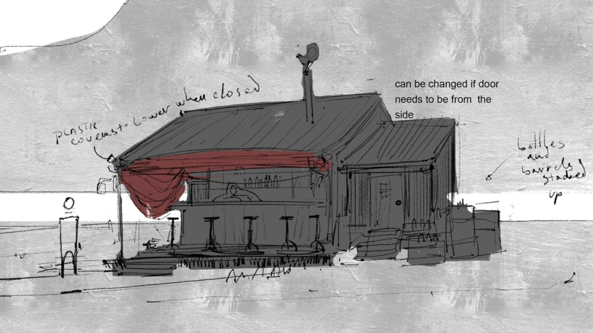 Who's up for a drink? /#sketch of a bar from the first Hub, if some of you had played our #playtest. In-game things on their way. #gamedev #indiedev #adventure #deardevdiarypic.twitter.com/982mSLbKaB
