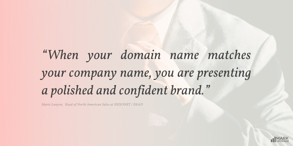 How does your #domain name match your #brand name?  #MarkUpgrade #Branding #Naming #Startup #Business