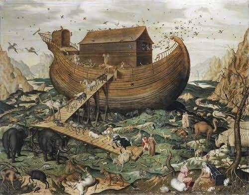 今回のMVの根幹は、ノアの箱舟で間違いないでしょう。神が地上を大洪水で洗い流した際、選ばれた人間と生物だけが船に乗り、更地の地にまた降り立ったという聖書の話。ジンは鳩を飛ばしますがこの話では「鳩を飛ばして平和が蘇ったことを確認した」となっていて、鳩は新しい世界での希望を表します