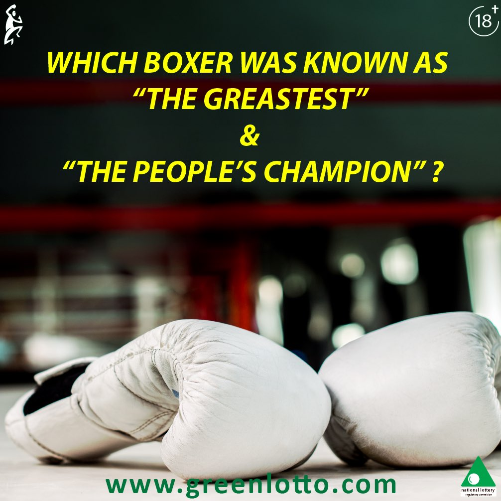 """Let's see who can answer this correctly .   Which Boxer is know as """"The Greatest in thy world"""" and """"The people's Champion""""#boxing #thursdaytrivia #doyouknow pic.twitter.com/ISWXkMzedg"""