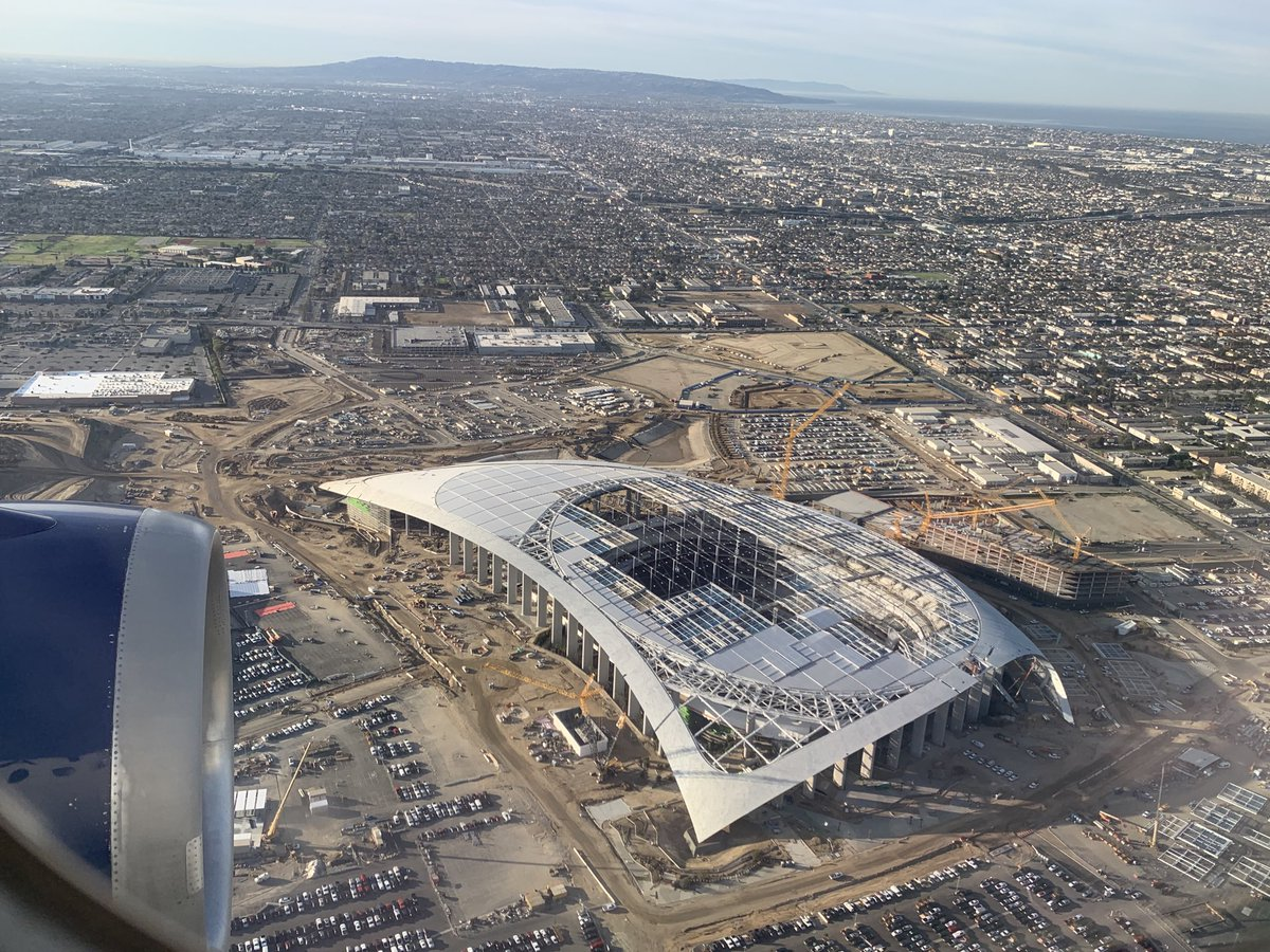 Good morning, SoFi Stadium. Rams and Chargers are scheduled to play this season in their new home.