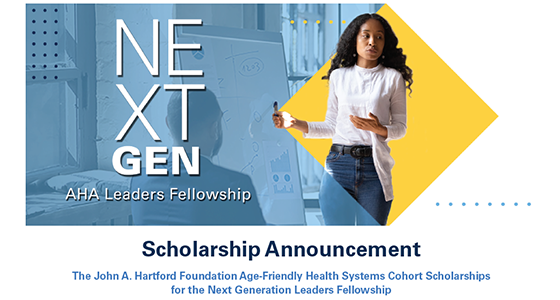 Don't forget! Tomorrow 2/28 is the last day to apply for the #AgeFriendly Health Systems Cohort Scholarship to participate in @ahahospitals Next Generation Leaders Fellowship Become an Age-Friendly Fellow #AgeFriendlyHealthSystemshttp://ow.ly/XBz350y8a2Q @TheIHI @TheCHAUSA