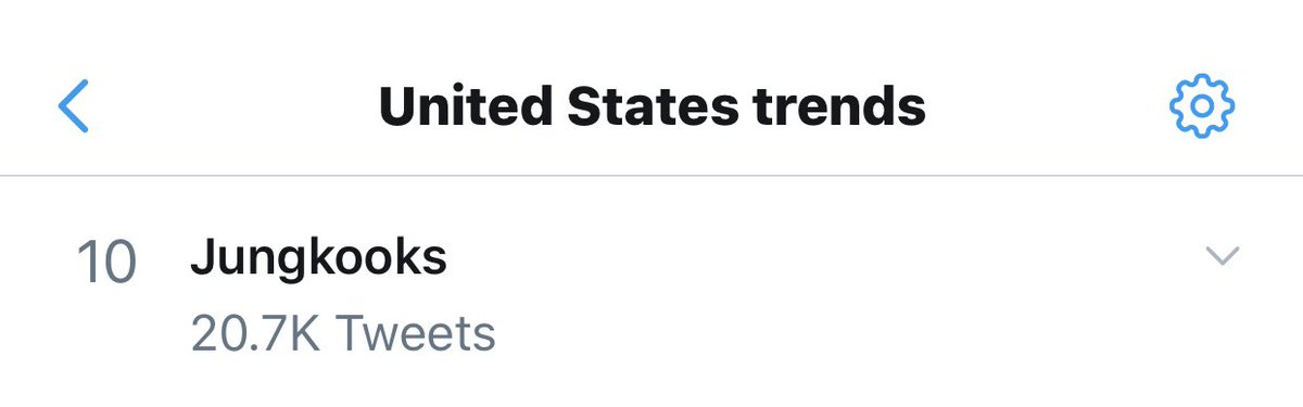 """Jungkooks"" is currently trending in the United States at #10 after the release of 'ON' MV @BTS_twt"