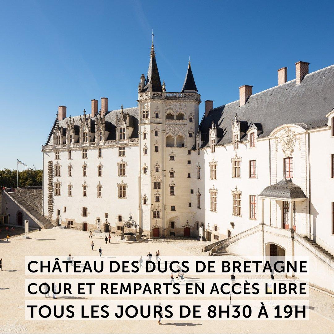 #envacancesàNantes visitez le @ChateauNantes explorez le monument, baladez vous dans la cour, sur les remparts et dans le jardin des douves, ces espaces sont en accès gratuit  #Nantes #visite #famille #culture #art #histoire #LVAN #gratuit
