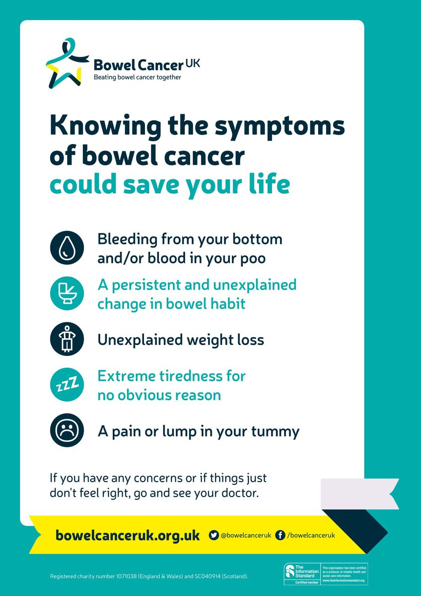 Important discussion on the second @emmerdale episode of the night about #bowelcancer symptoms. If you have any of the signs, don't be embarrassed and don't ignore them, see your GP