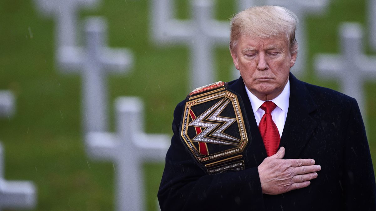 Trump Delivers Touching Tribute To Fallen Heroes Of WWE https://trib.al/76dlX4U