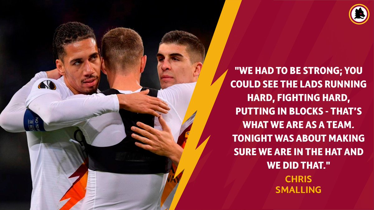 💬 | Well in, @ChrisSmalling 💪   #ASRoma #UEL #GentRoma https://t.co/gzR7ekGosh
