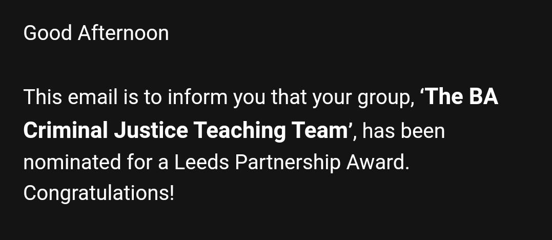 Our awesome teaching team have been nominated for a #leedspartnership award  Thank You!<br>http://pic.twitter.com/fjnUBpqLvG