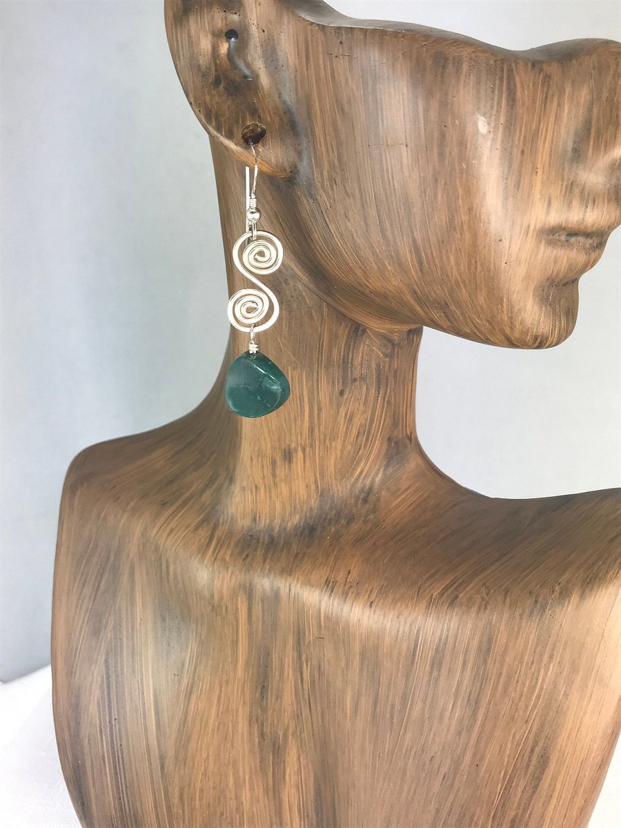 Moss Agate Earrings in  my #etsy shop:  #jewelry #earrings #mossagate #heartenergy