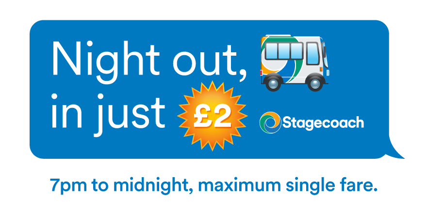 Having a #night out? 🍾 Don't forget it's only £2 maximum single fare between 7pm and midnight! Plan you journey and check out details here:
