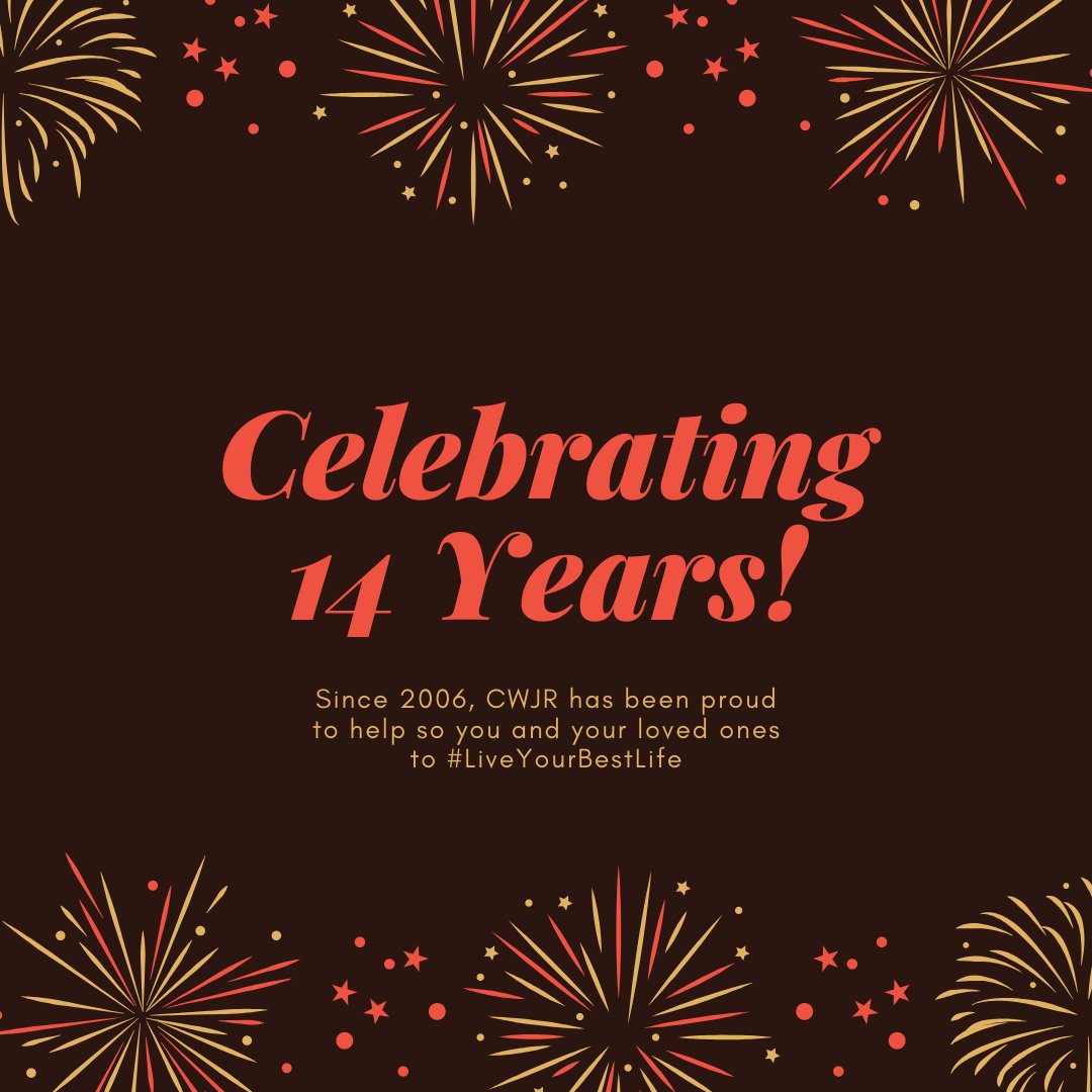 Since 2006, we have been honored to be part of so many unique success stories and we look forward to being part of many more! Thank you for 14 wonderful years (and counting) from the CWJR family #LiveYourBestLife #LoveWhereYouWork <br>http://pic.twitter.com/NSqwim9Jcr