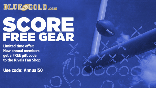 There's no better time to subscribe to http://BlueandGold.com!  Spring ball coverage Big recruiting weekends Highly active community of Notre Dame fans  Get FREE Notre Dame gear when you sign up with your new annual subscription!  Full details: http://bit.ly/BGI-annual50pic.twitter.com/TLvcuRqB09
