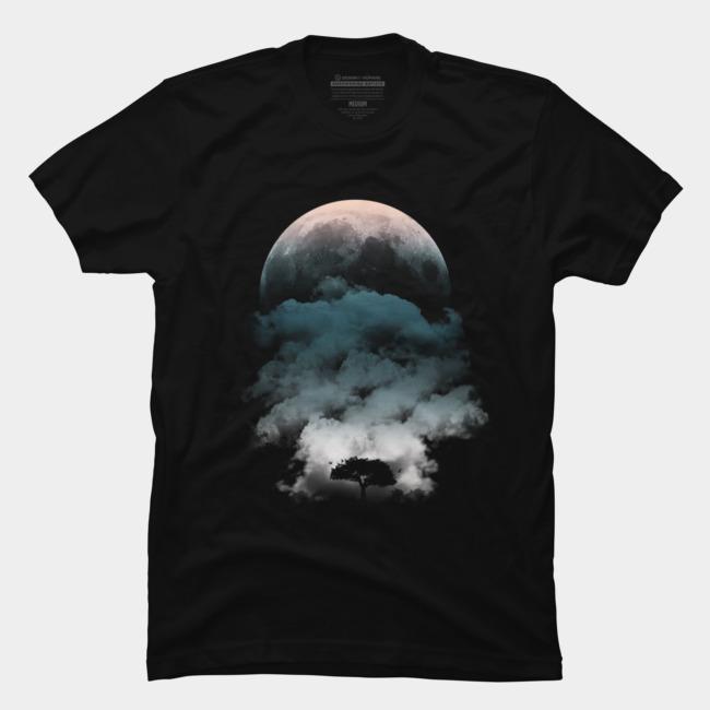 Moon & Tree @designbyhumans by @Boby_Berto  #nature #moon #tree #black #clouds #night #awesome #tshirts #tshirt #clothing