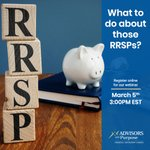 Image for the Tweet beginning: RRSPs may be an excellent
