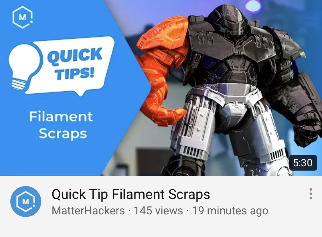 Great tips from @AlecRichter3D at @MatterHackers on how to use leftover filament. Why waste what's left on the spool when you can use it to weld prints and more? I learned a lot!  #3Dprinted #makerspace #edutech #additivemanufacturing #3DPrinter #STEM