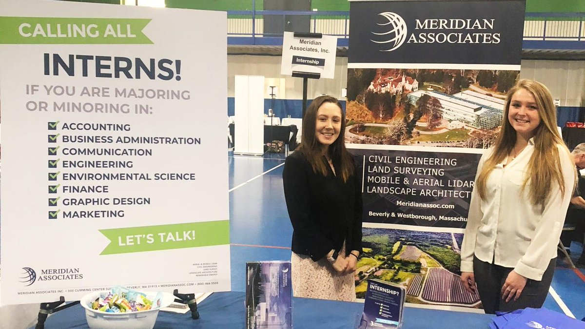 Meridian was a part of @EndicottCollege's Internship & Career Fair last Tuesday. We were lucky enough to share the great experience with our current interns Megan and Jess, who are both seniors at Endicott, to speak about their experiences interning at our Beverly office! pic.twitter.com/BmksQWUJm9