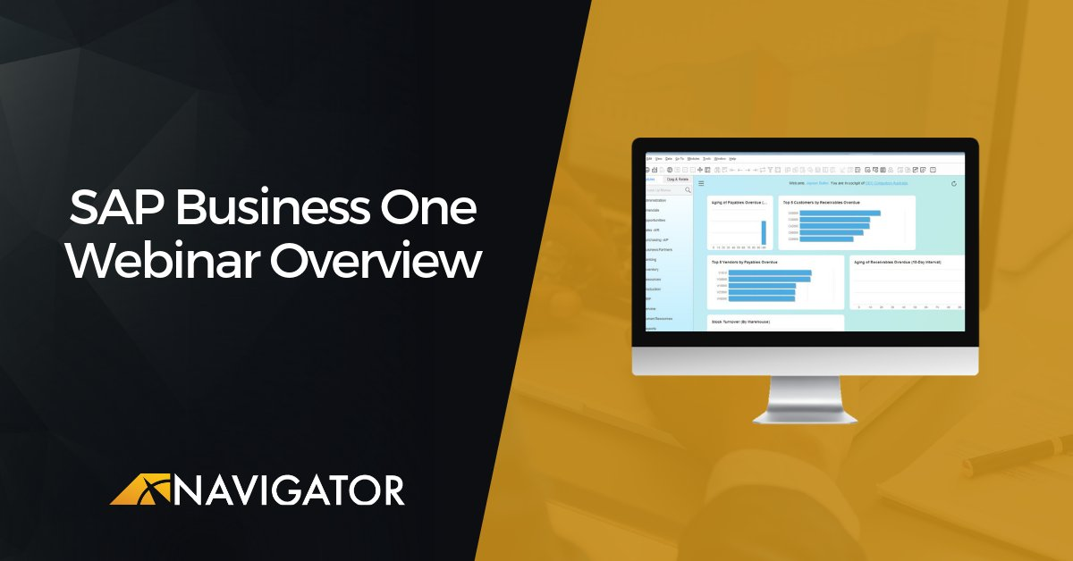 Join us tomorrow for our live SAP Business One Demo. 9 AM MDT/8 AM PST http://bit.ly/2V0x8vLpic.twitter.com/W7uIeSUNU6