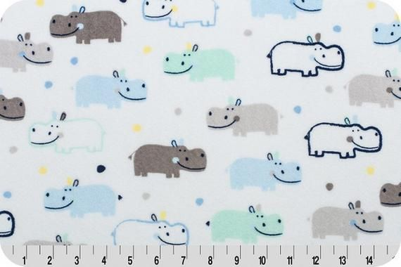 #Happy #Hippo #Cuddle #Blue #Minkyfabric  #new #Minky #Fabric, #Shannon #CuddleMinky, Cut to Order,  #Supersoft #QuiltBack #Sewing #Quilting