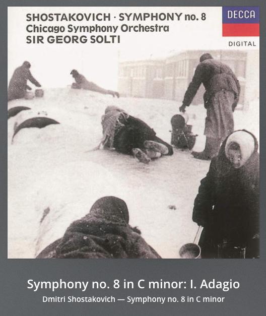 Shostakovich mit seiner Symphonie no. 8 zum Kochen. Ich denke, das wird eine gute Wahl. #Diskonnegraphiepic.twitter.com/i66vLYuFdZ
