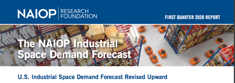 Consumer appetite for e-commerce is driving demand for #industrial space.  Download the NAIOP Industrial Space Demand Forecast, First Quarter 2020 report.