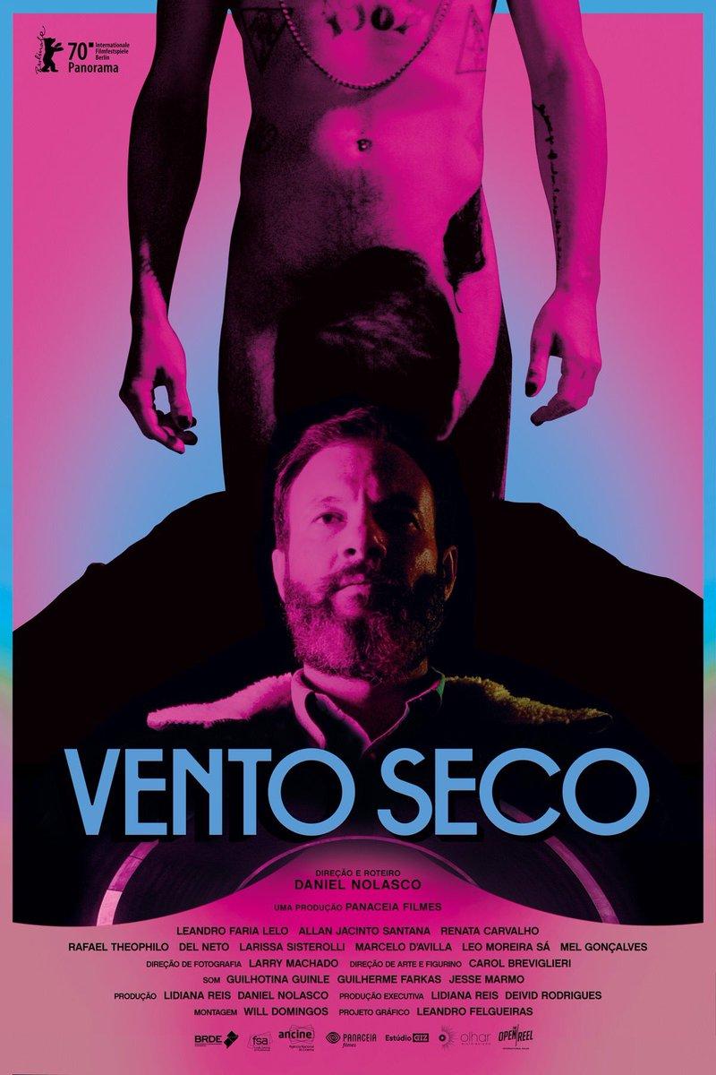 Cartaz do filme brasileiro VENTO SECO (Dry Wind), de Daniel Nolasco. Com temática LGBTQ+ foi exibido no #FestivalDeBerlim, com bastante elogios da crítica internacional #VentoSeco #DryWind #cinemabrasileiro #cinemanacional @berlinale #LGBTQpic.twitter.com/rxXiw3o7ZC