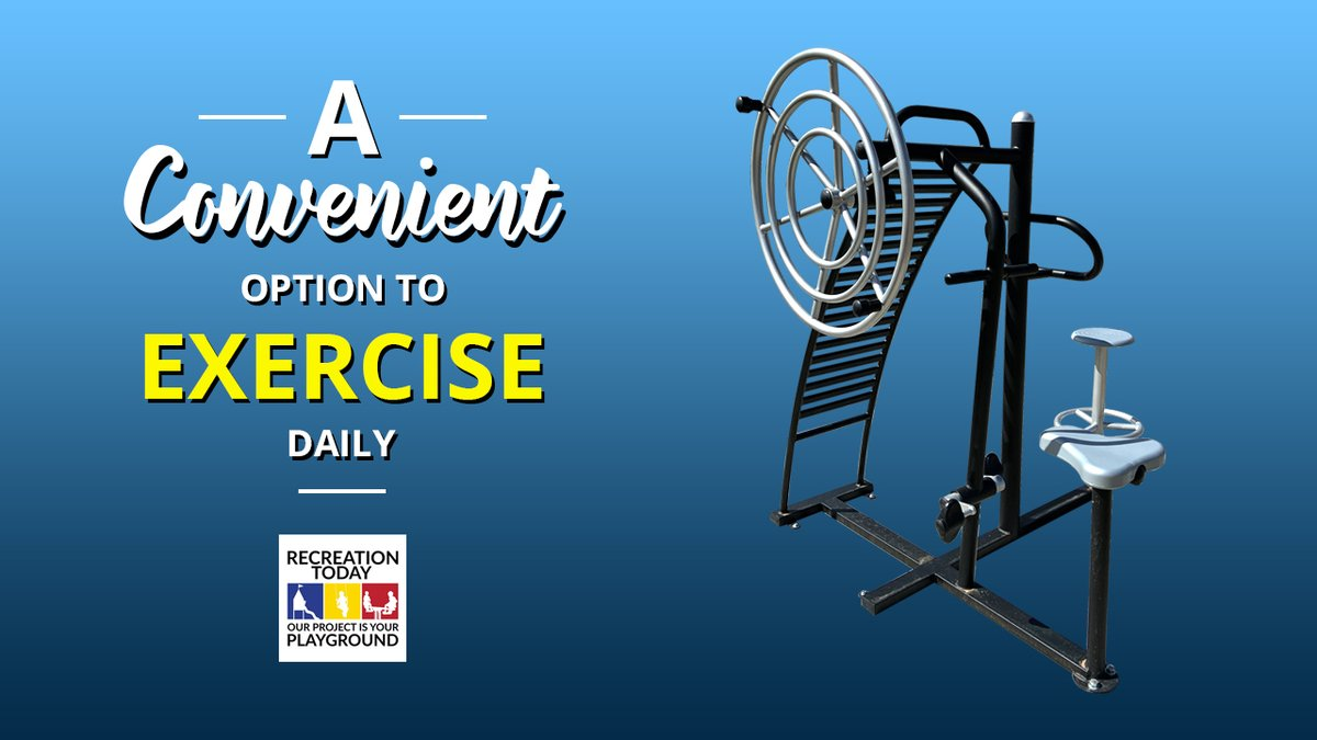There is a huge variety of indoor fitness options, they can be costly and inconvenient. Outdoor Adult Fitness Parks can remove these barriers. Browse our collection of outdoor fitness equipment and contact us for a free quote! visit us: https://bit.ly/3a3X0vKpic.twitter.com/rrQMjlo40D