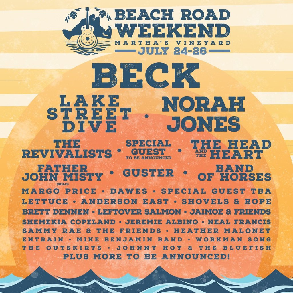 We're headed to Martha's Vineyard in July for @BeachRoadWknd and hope to see you there. Tickets at https://t.co/LzeOV6tuR5 https://t.co/8SaSJsXtg4
