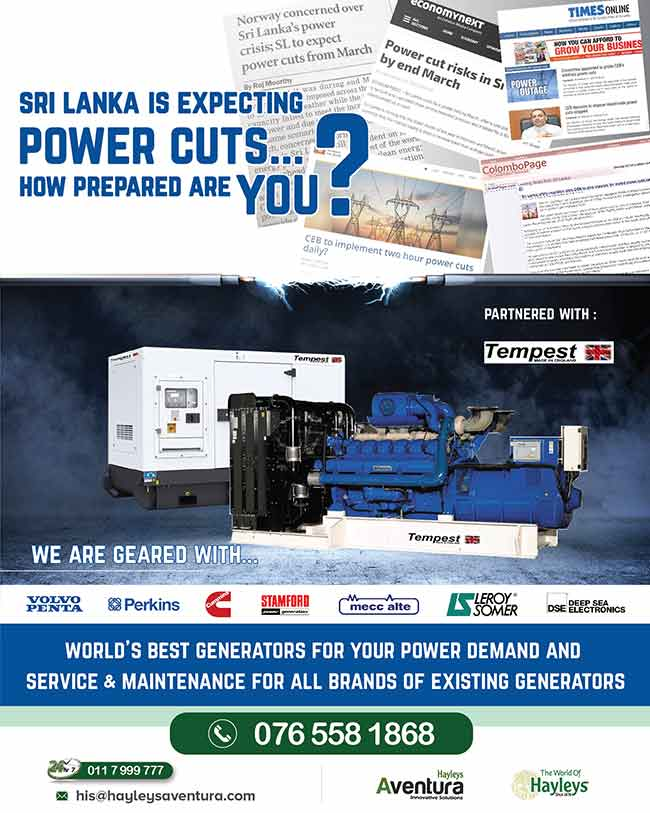 POWER CUT risks in Sri Lanka by end of MARCH  Contact us now: 076 558 1868 24/7 hotline: 011 799 9777  #HayleysEngineering #Engineering #PowerCuts #Generator #lka #Efficiency #Best #equipment #benefits #maintenance #power #industrial #domestic