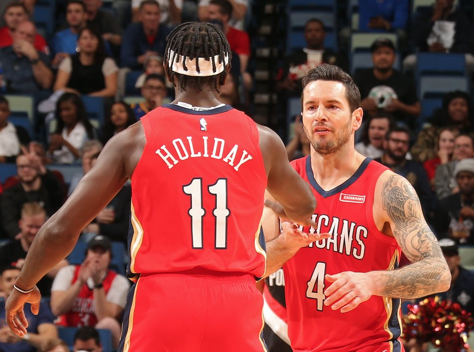 """You are the best one-on-one defender I have ever seen in my entire life,"" JJ Redick to Jrue Holiday  @Jrue_Holiday11 is the latest guest on The JJ Redick Podcast!  🎧:   via @Ringer 