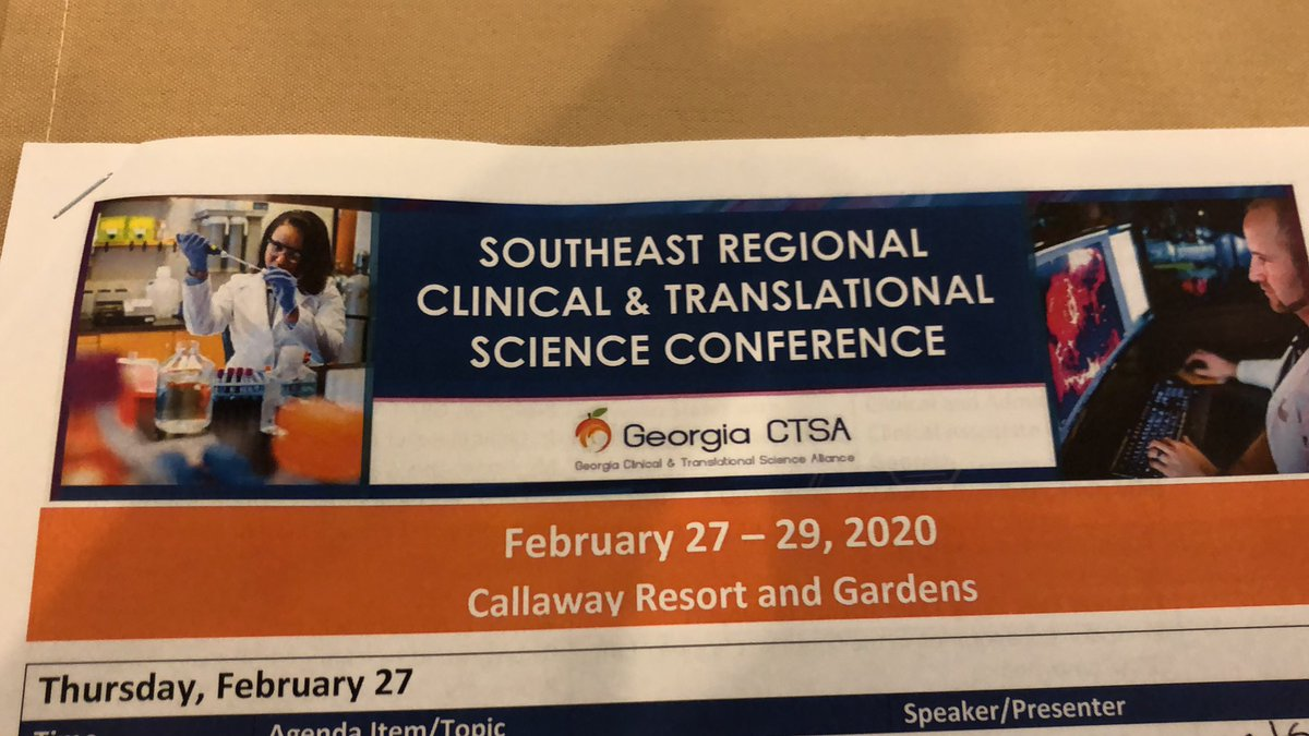Exciting learning and networking opportunity! #georgiactsa2020
