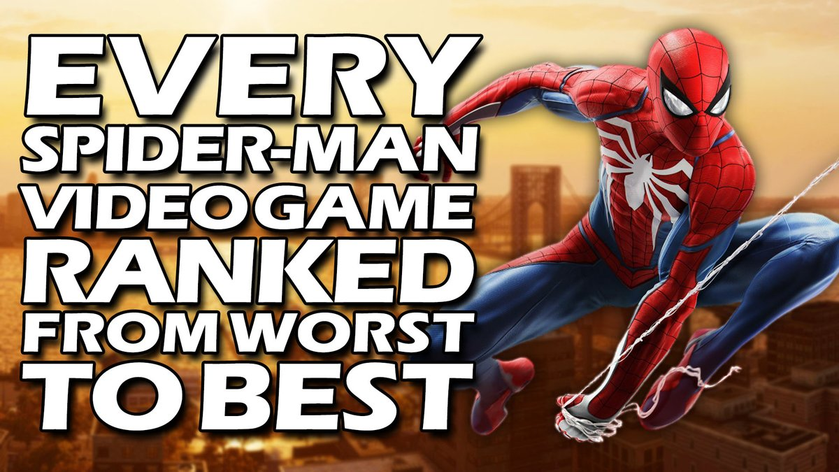 Spider-Man, Spider-Man, does whatever a Spider can... Within reason. Some of Spidey's games genuinely feel like they were made by actual spiders.  TripleJump presents Every Spider-Man Video Game Ranked From WORST To BEST: https://youtu.be/UJa1Gm1Qlvg pic.twitter.com/HqGYUg0LX8