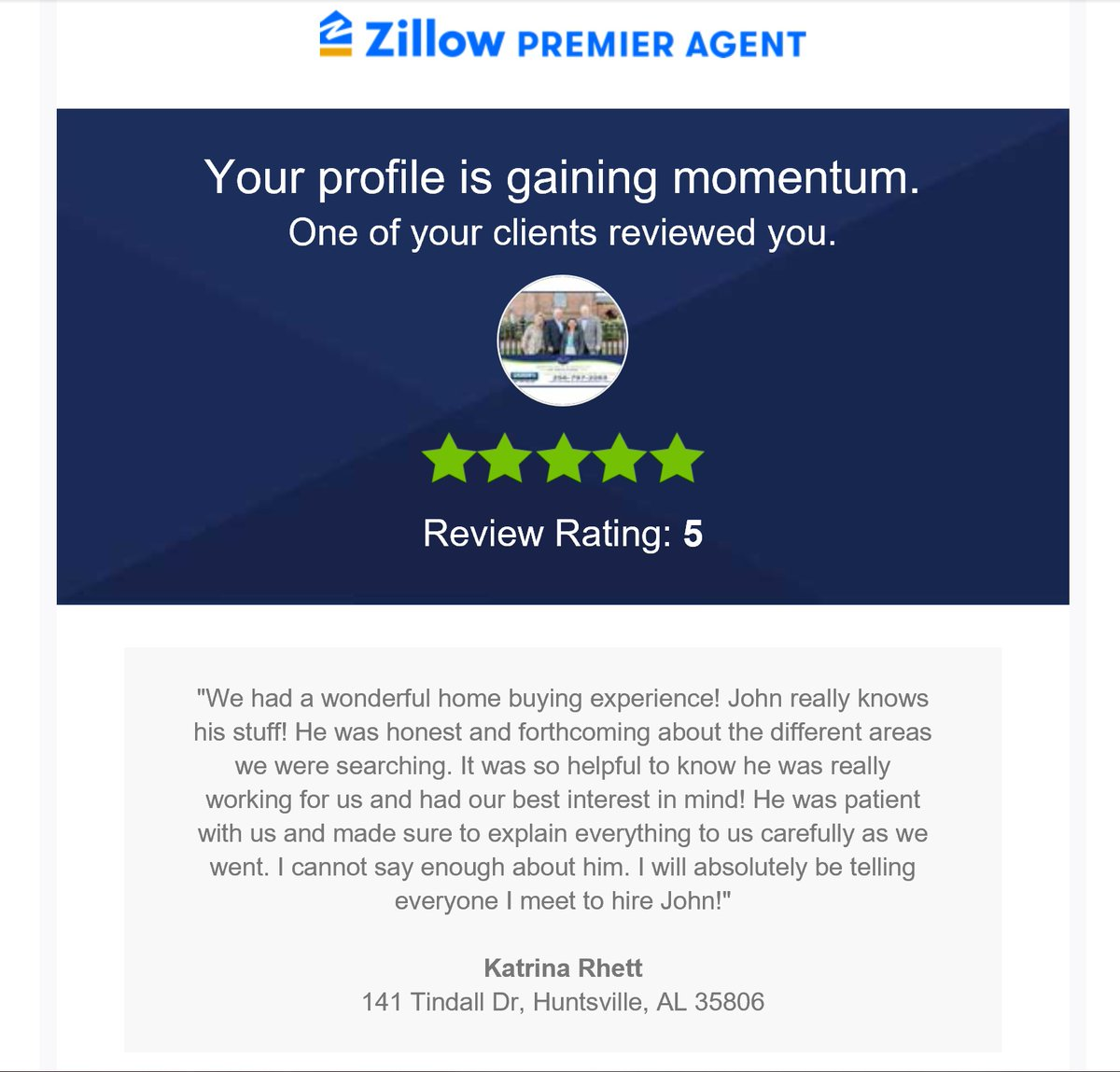 Some other #Zillow reviews from our past clients!  We are for ever #Thankful  . . . Now, let's find more #Realestateproperties for sale for our current clients! #HuntsvilleAlabama #Realestate #TheBrooksFamilyOfRealtorspic.twitter.com/HujyD8Aixy