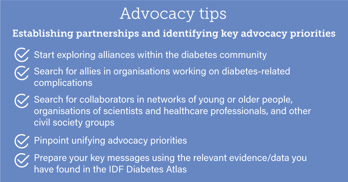test Twitter Media - #DiabetesAdvocacy - Establishing partnerships and identifying key advocacy priorities is an important step to becoming an effective #diabetes advocate. Have a look at the Advocacy guide to the IDF Diabetes Atlas 9th edition to learn more: https://t.co/Yi3GhTlbxN https://t.co/guzLQ1WfoI