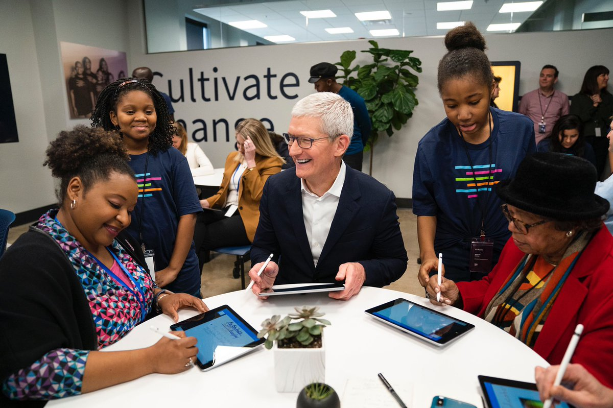 Coding lets students of all ages breathe life into new ideas, solve problems and prepare for the jobs of the future. Honored to join Birmingham's students, teachers and visionary leaders in opening Ed Farm — a new education hub where students can connect, learn and create!