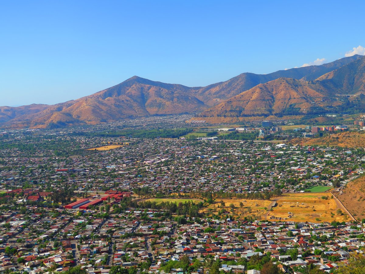 Santiago City Valley Panorama Andean Mountains Magnificent view and Landscape Chile <br>http://pic.twitter.com/jxp4xCTsN8